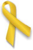 Gold Ribbon for Childhood Cancer Awareness Month