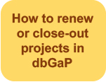How to renew or close-out projects in dbGaP