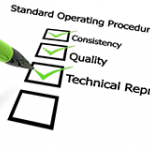 Check list of characteristics for good standard operating procedures
